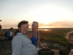 Ubirr - sunset Chris & Andrea